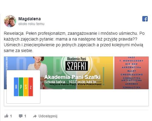 szkoła tańca wMarkach - Akademia-Pani Szafki - opinie