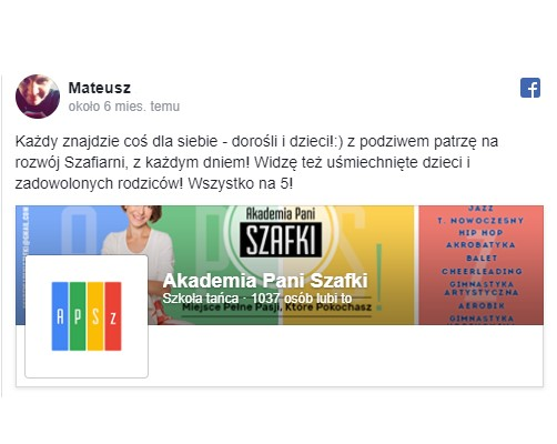 szkoła tańca wMarkach - Akademia Pani Szafki - opinie