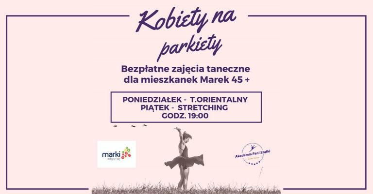 """Projekt """"Kobiety naparkiety"""" – bezpłatne zajęcia dla mieszkanek Marek + 45 lat"""