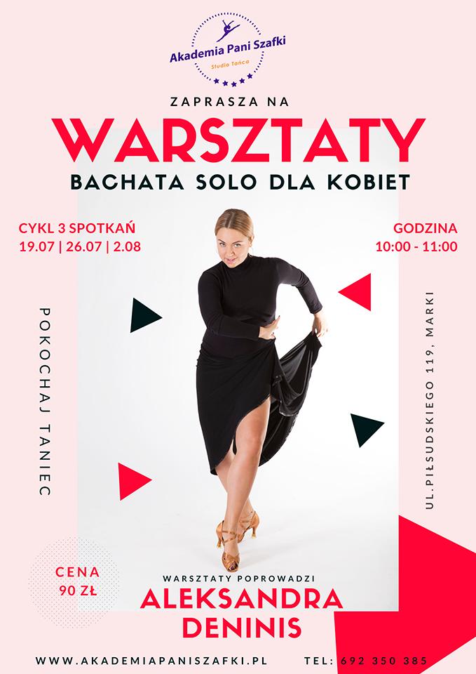 warsztaty bachata solo dla kobiet wMarkach