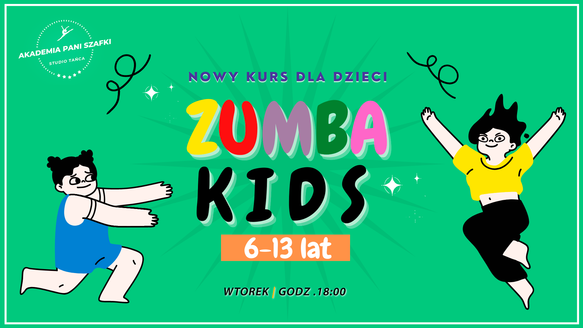 Zumba dla dzieci wMarkach. Zumba Kids wAkademia Pani Szafki