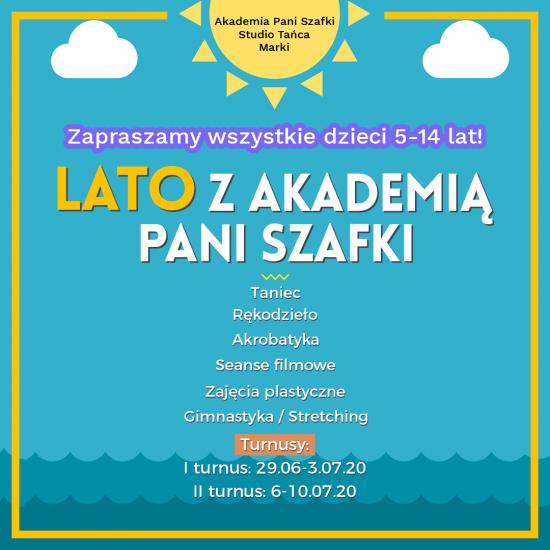 lato wmieście dla dzieci zAkademią Pani Szafki